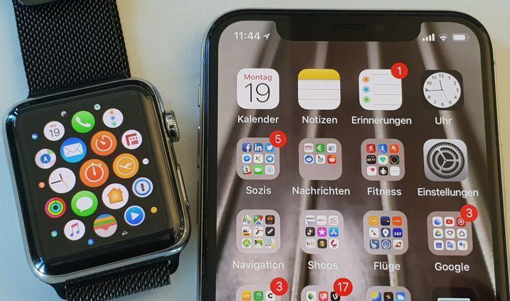 Apple Watch 3 und iPhone X