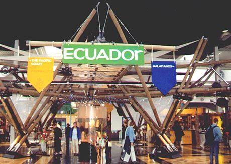 Offenes Konzept: der Stand von Ecuador