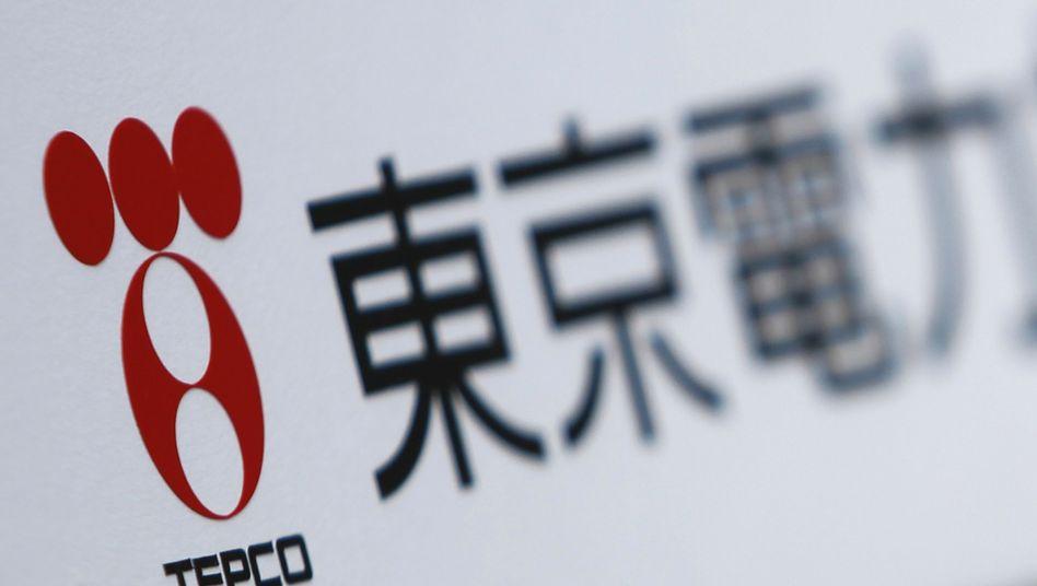 Tepco-Logo: Japans Parlament will den Energiekonzern retten