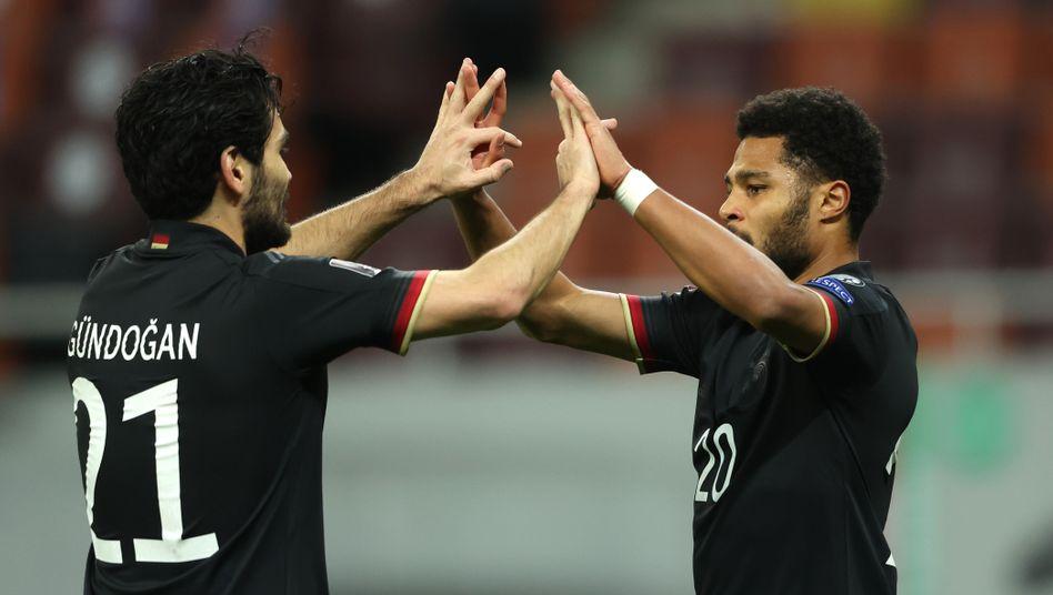Der Torschütze des einzigen Treffers: Serge Gnabry (rechts)
