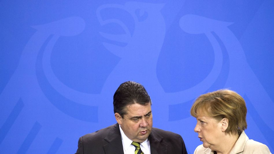 """SPD-Chef Gabriel, Kanzlerin Merkel: """"Wichtig, dass alle im Raum stehenden Fragen geklärt werden"""""""