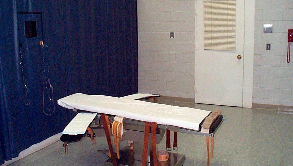 Hinrichtungsraum im Greensville Correctional Center in Jarratt, Virginia