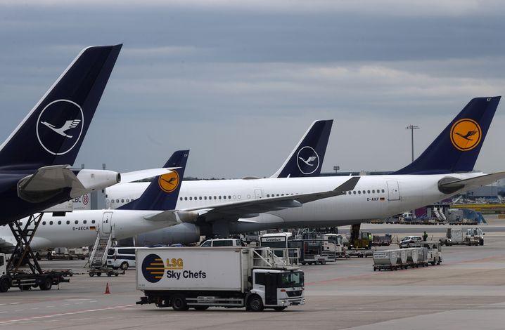 Flugzeuge des Lufthansa-Konzerns