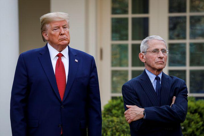 Donald Trump und Anthony Fauci (im März 2020)