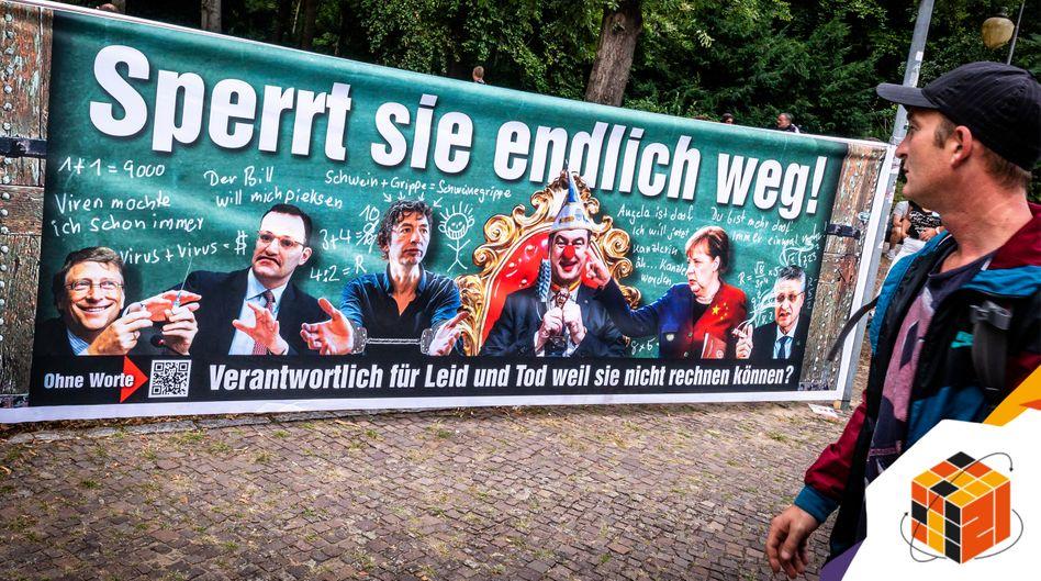 »Querdenken«-Demonstration in Berlin im Sommer 2020: Überall Schuldige und Unschuldige