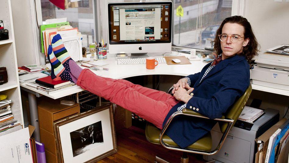 Schrille Socken waren einer der ersten Trends, mit denen Tech-Mitarbeiter in US-Büros auffielen (Archivbild)