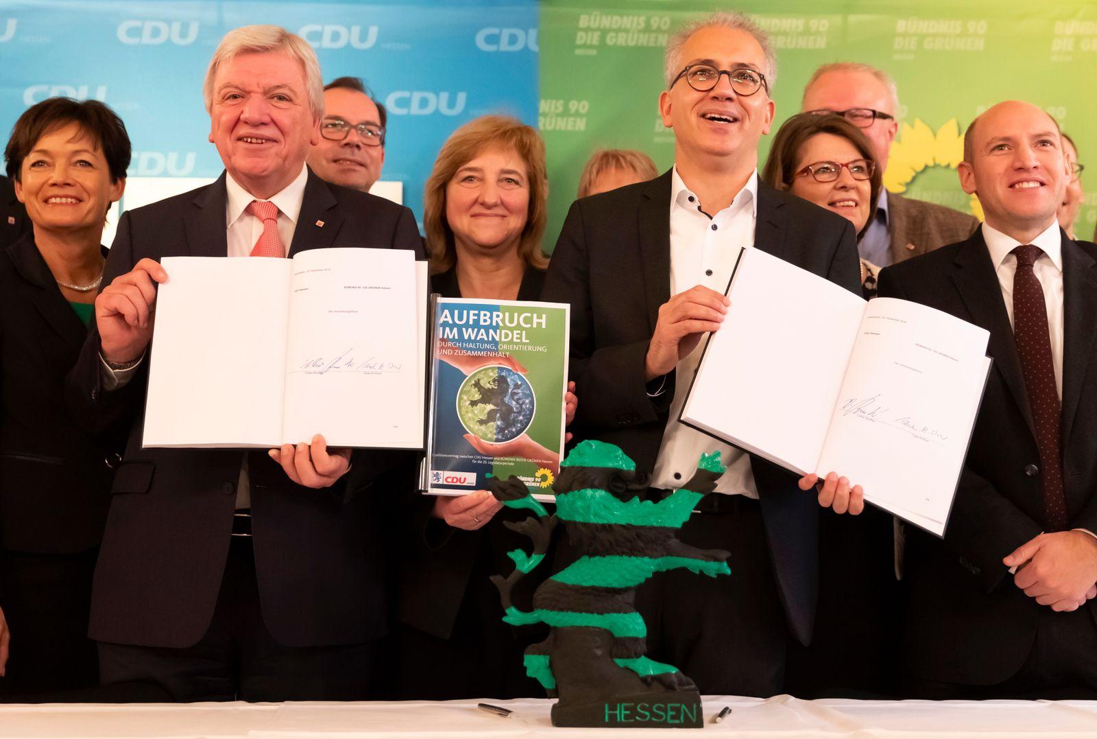 Bouffier Al-Wazir Koalitionsvertrag Hessen