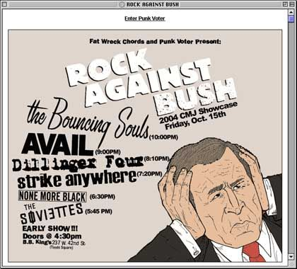 Website von punkvoter.com: Linksliberales All-Star-Aufgebot