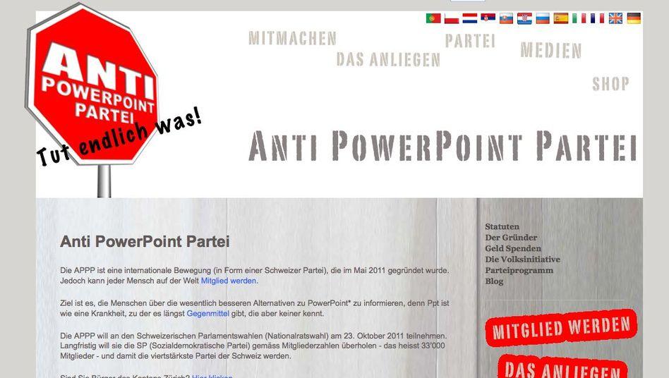 Parteiseite im Web: 805 Unterstützer ermöglichten die Wahlzulassung