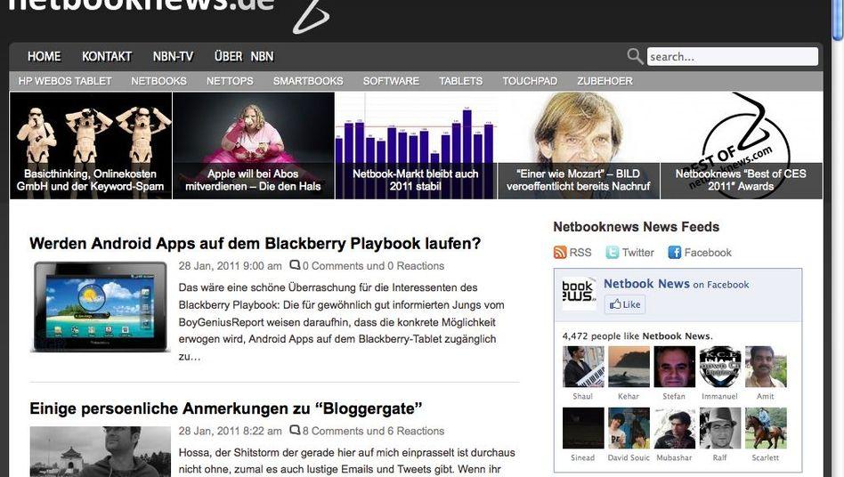Netbooknews: Tech-Blog mit Produkt-News und gelegentlichen Skandal-Nachrichten
