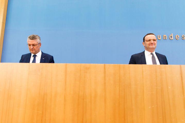 RKI-Chef Wieler (l.) mit Minister Spahn