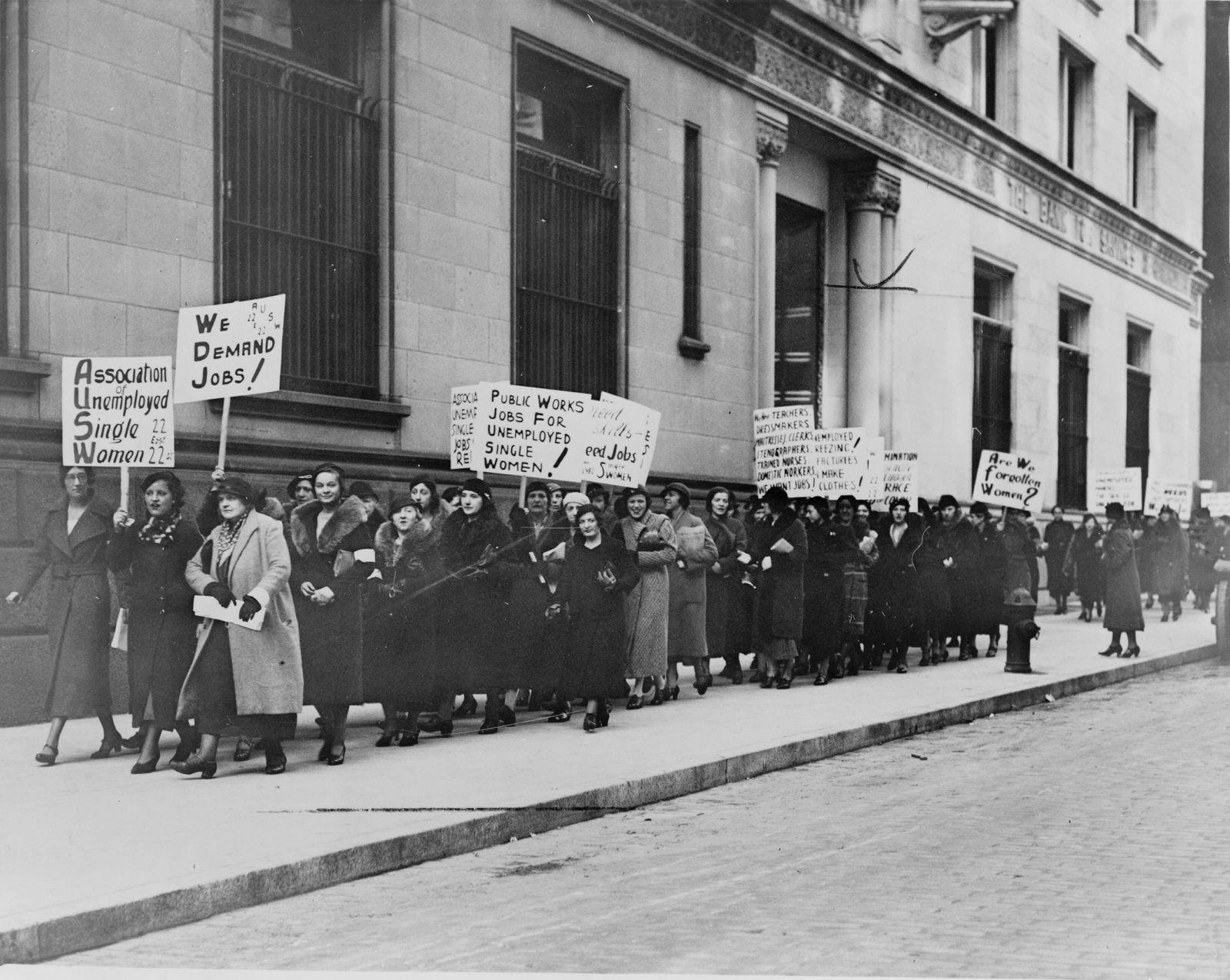 EINMALIGE VERWENDUNG Demo 30er Jahre USA