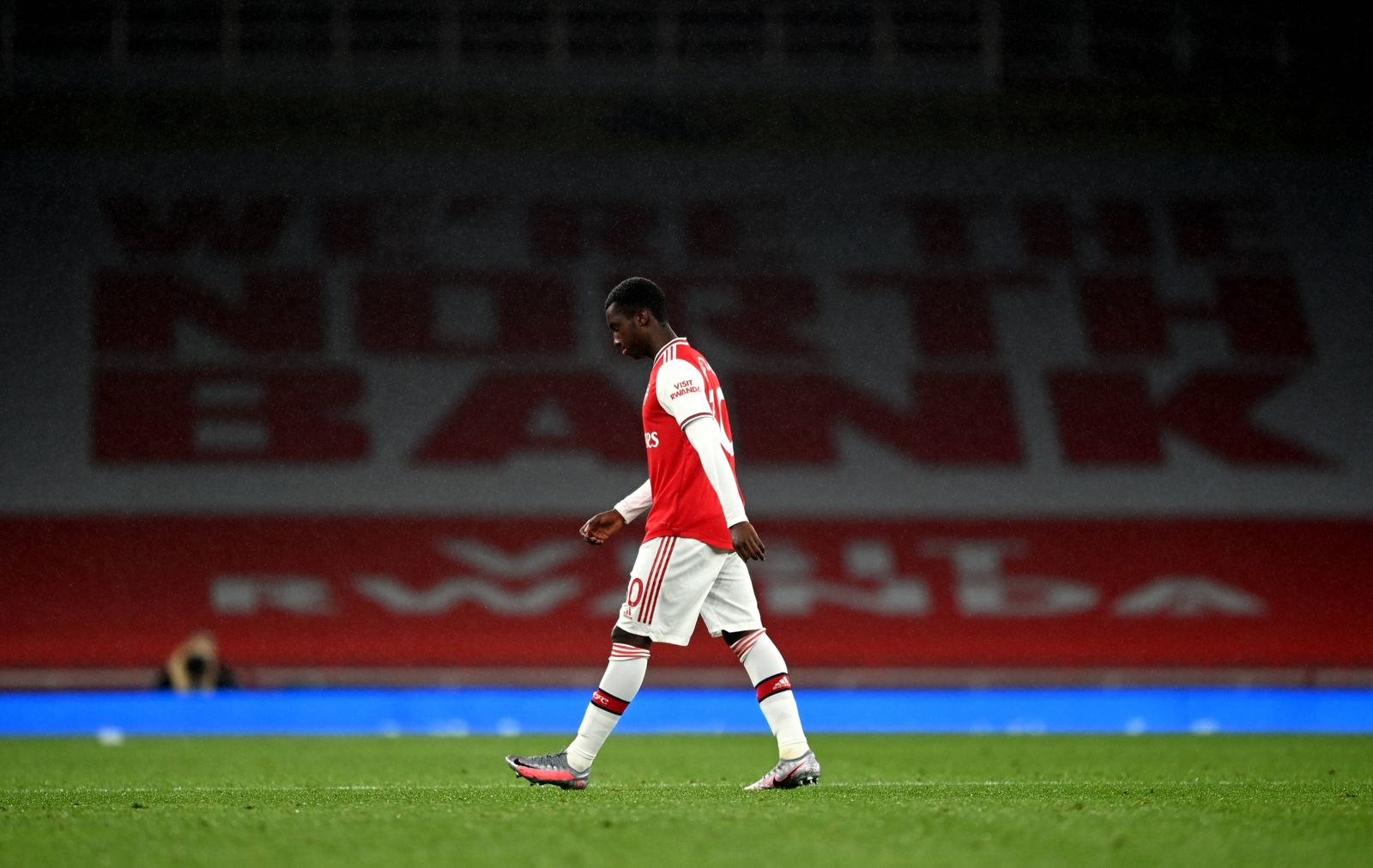 Arsenal v Leicester City - Premier League - Emirates Stadium Arsenal s Eddie Nketiah after being sent off during the Pr