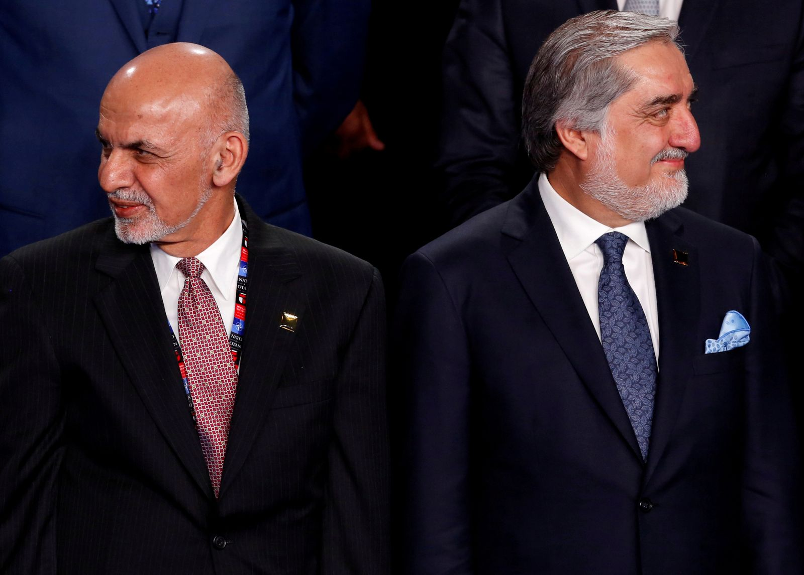 FILE PHOTO: FILE PHOTO: Ghani and Abdullah participate in a family photo with Ghani and Abdullah at the NATO Summit in Warsaw, Poland