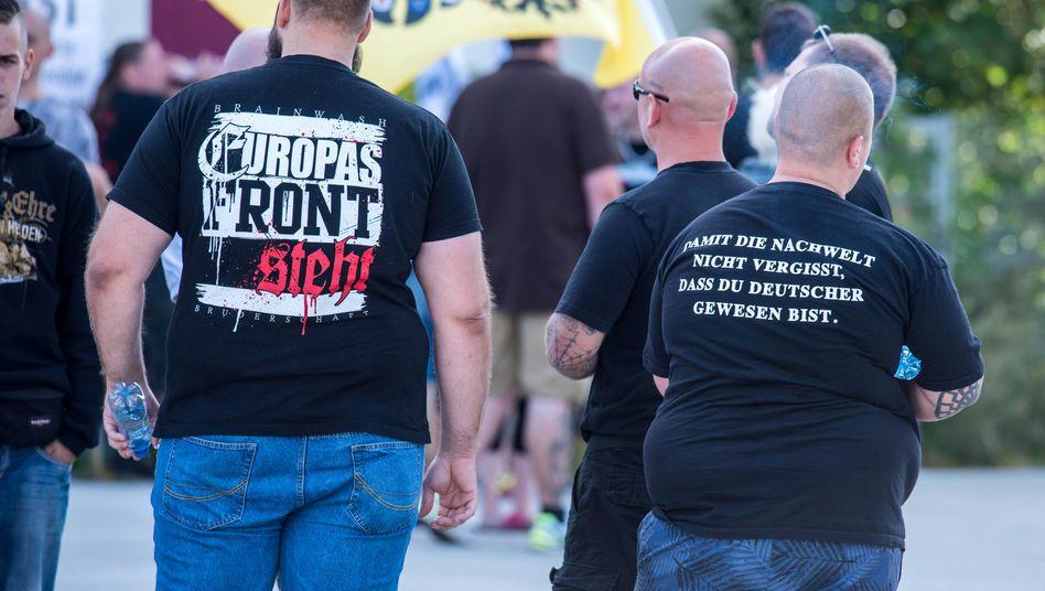 Deutsche und polnische Neonazis in Frankfurt an der Oder (Archivaufnahme vom September 2016)