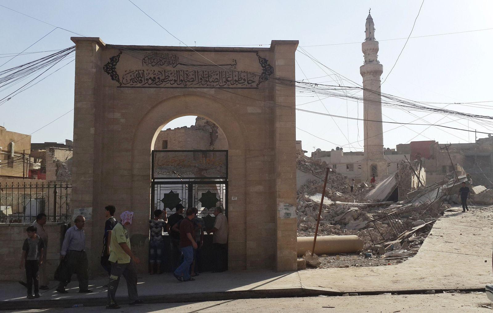 Is zerstört kulturelles Erbe/ Mosul/ Irak