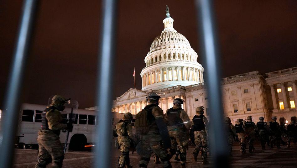 Die Nationalgarde ist eingetroffen, um das Kapitol vor gewaltbereiten Demonstranten zu schützen