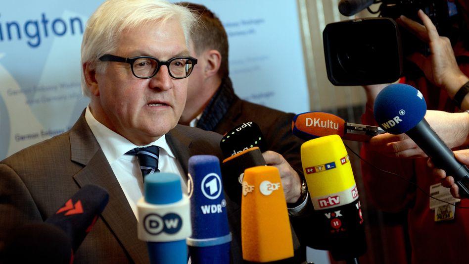 """Steinmeier in Washington: """"Wir müssen noch eine ganze Weile sprechen"""""""