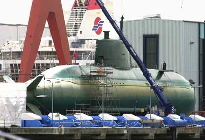 "U-Boot der ""Dolphin""-Klasse bei HDW in Kiel: Stückpreis 500 Millionen Euro"