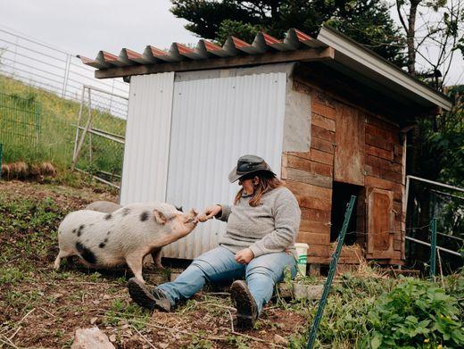 Anja Bärmann, 42, wusste schon immer, was sie will: einen eigenen Hof bewirtschaften
