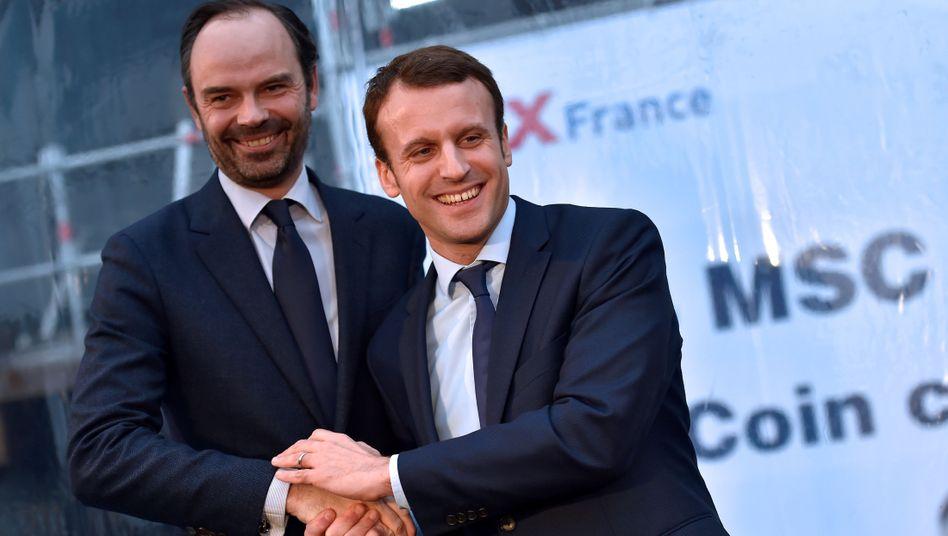 Neuer Präsident Macron (r.), neuer Premier Philippe (Archivbild)