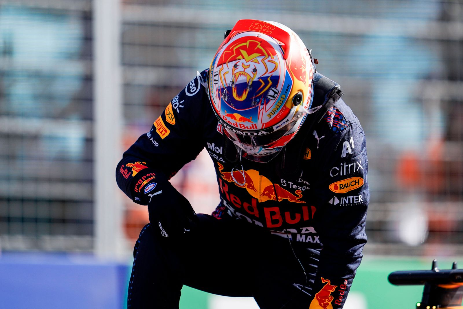 September 4, 2021, Zandvoort, The Netherlands: MAX VERSTAPPEN of the Netherlands and Red Bull Racing is seen after claim