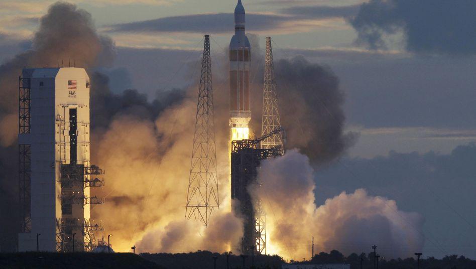 """""""Orion""""-Kapsel: Testflug auf der Spitze einer Delta-IV-Rakete (Archivbild)"""