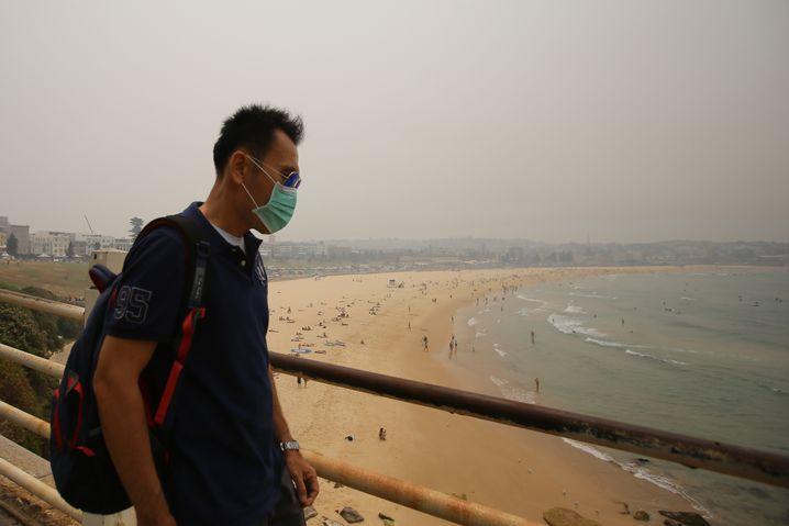 Smog über Bondi Beach (Foto vom 10. Dezember)
