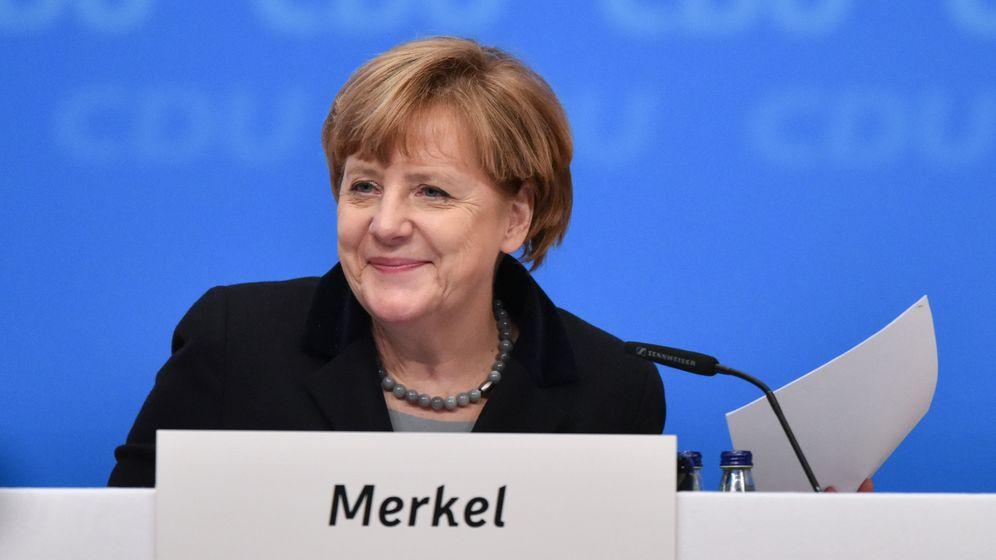 CDU-Parteitag: Merkel und der Wolf