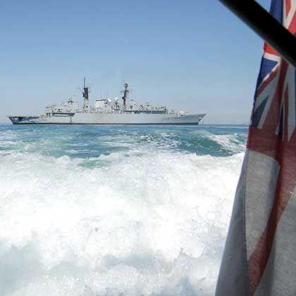 """Die britische Fregatte """"HMS Cornwall"""" auf Patrouille im arabischen Golf (am 9. März): 15 Besatzungsmitglieder wurden von Iran festgesetzt"""