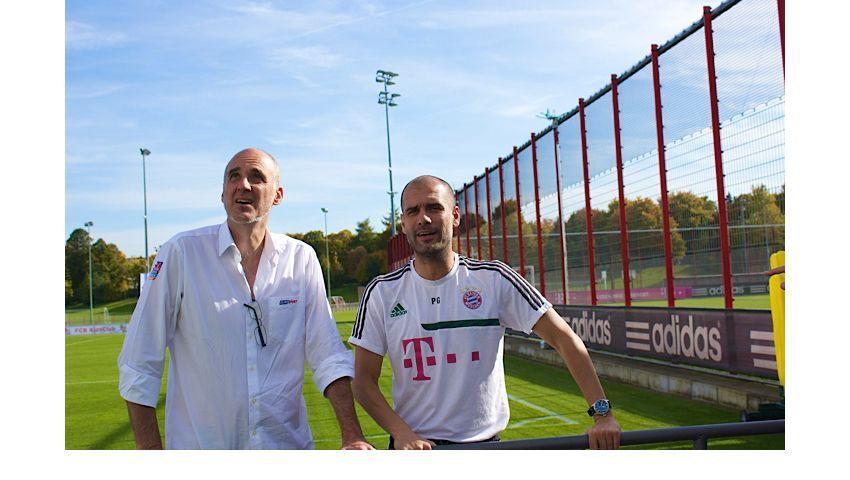 "Trainer Guardiola (r.), Autor Perarnau: ""Er ist ein guter Kerl"""