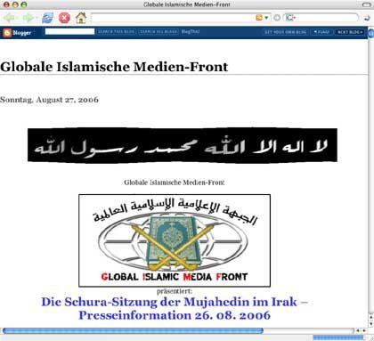 """Screenshot der Web-Depandance der selbsternannten deutschen """"GIMF""""."""
