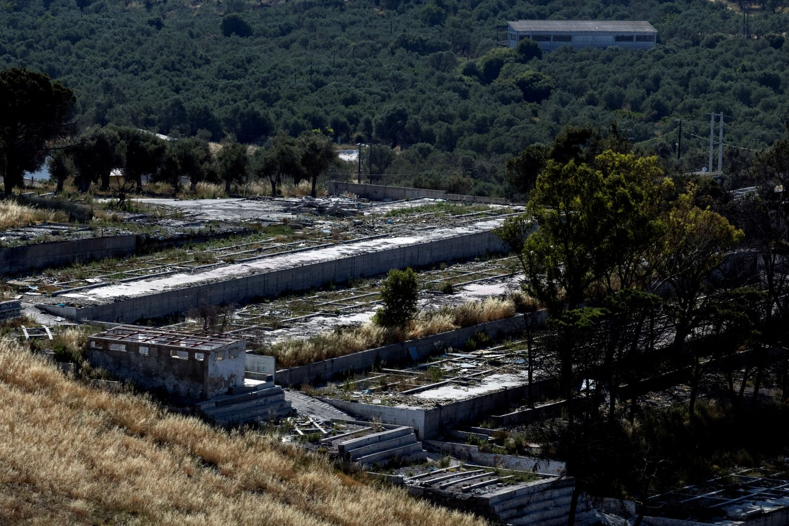 FILE PHOTO: A view of the destroyed Moria camp for refugees and migrants on the island of Lesbos