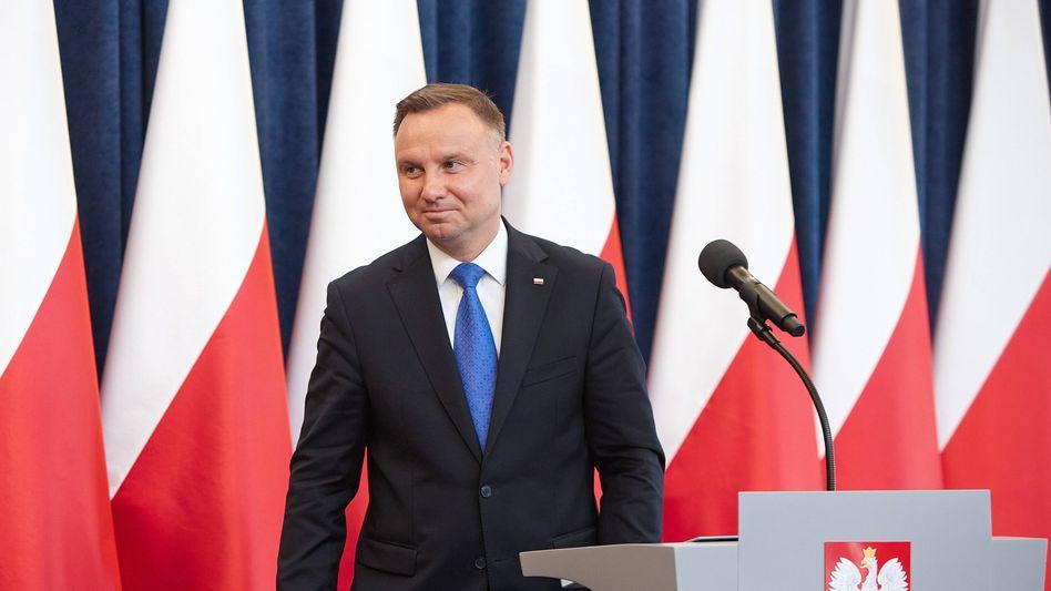 Amtsinhaber Andrzej Duda