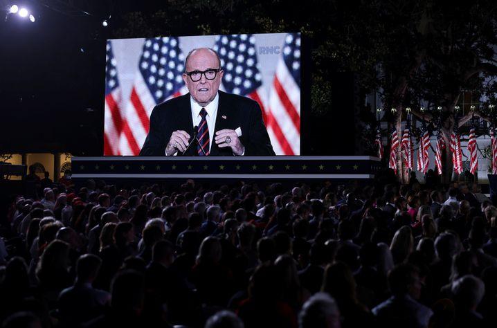 Zeichnete das Horrorbild einer kaputten Stadt: New Yorks Ex-Bürgermeister Rudy Giuliani
