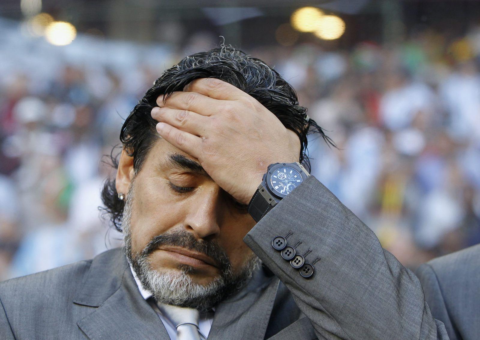 Maradona fassungslos