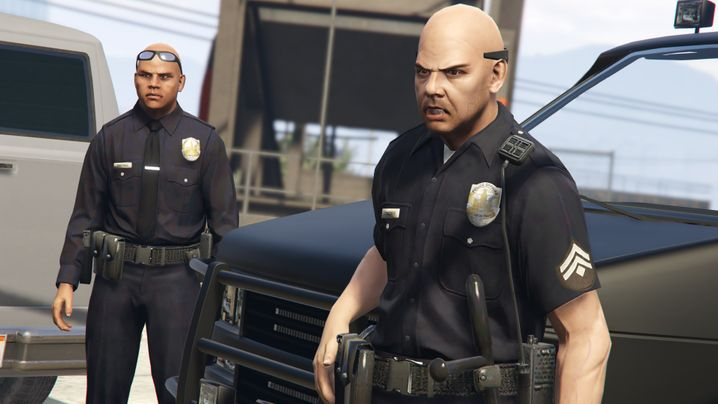 Corona-Polizisten: Ihnen begegnet man auf den Straßen der fiktiven Spielwelt Los Santos