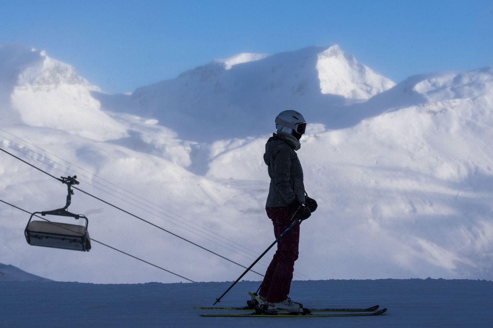 Skiers at the Flims Laax Falera ski area, Switzerland - 26 Dec 2020