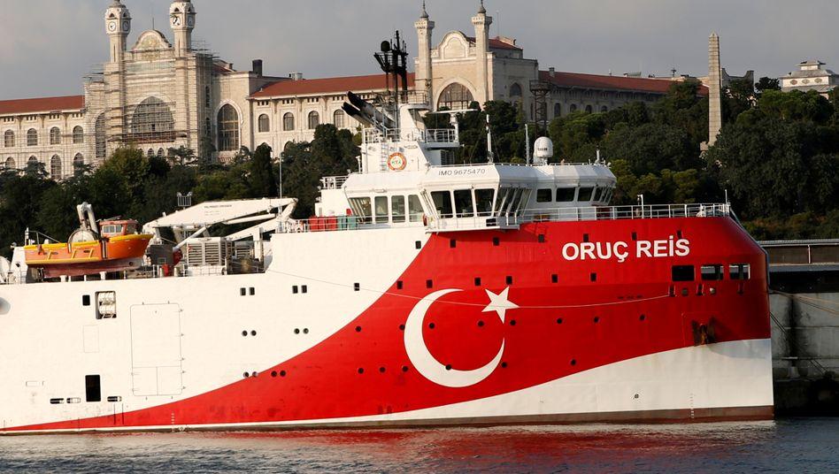 """Das türkische Forschungsschiff """"Oruc Reis"""" (Archiv)"""