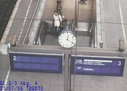 The failed suitcase bomb plot in Germany was the only Islamist terrorist attack in the EU in 2006, according to the Europol study. Here German CCTV footage shows Jihad Hamad, one of the main suspects in the plot, at Cologne railway station.