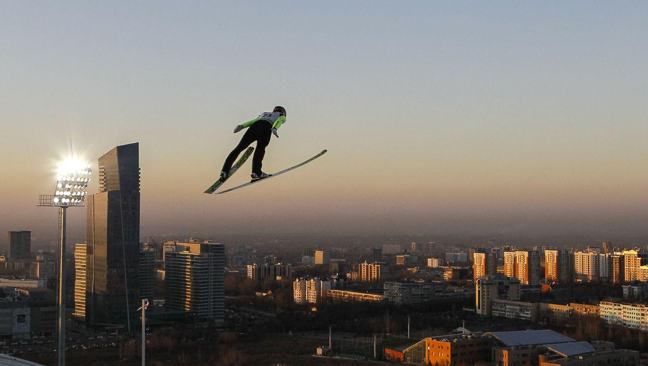 Almaty Skispringen