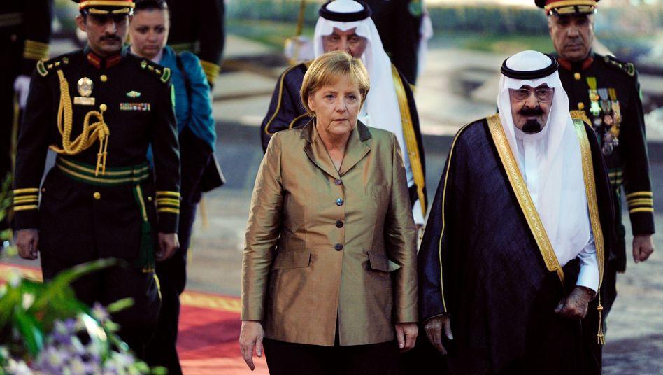 Kanzlerin Merkel mit saudischem König Abdullah: Demokratie selektiv fördern