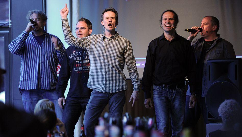 """A-cappella-Formation Wise Guys: """"Wir brauchen 'nen Skandal"""""""