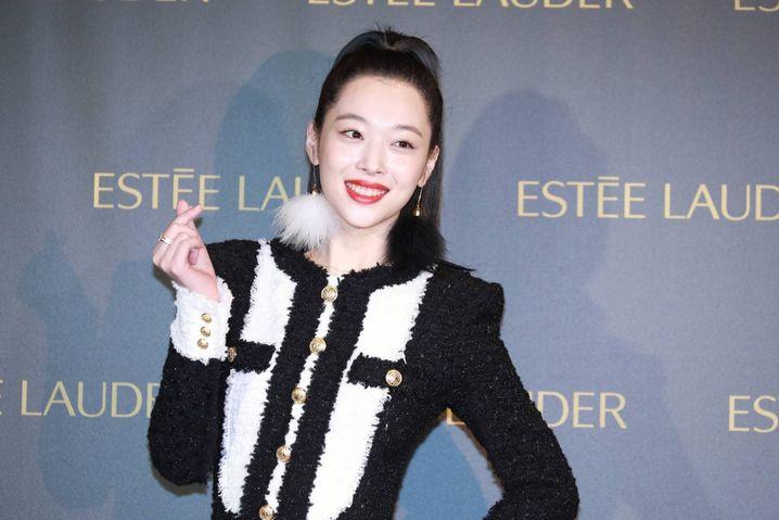 Die Sängerin und Schauspielerin Sulli bei einem Werbeauftritt im Oktober 2018