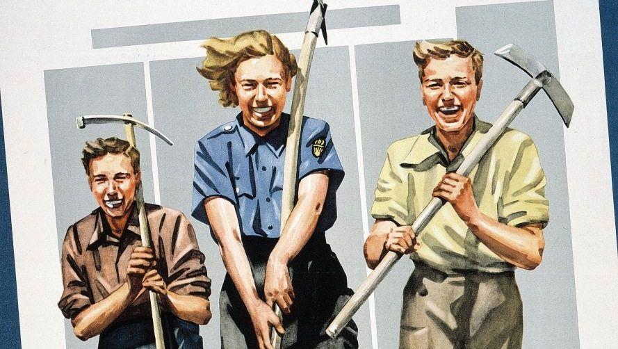 Werbeplakat der Zeitung »Junge Welt« 1952