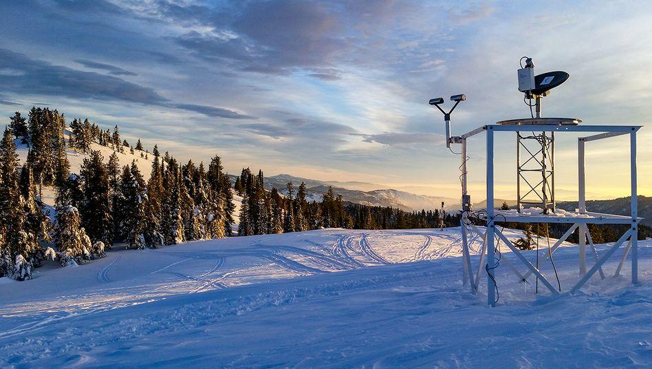 US-Bundesstaat Idaho: Die Forscher nutzten einen Radar, um die künstlich erzeugten Schneemengen zu messen