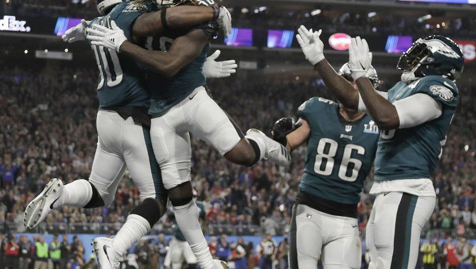 Die Philadelphia Eagles jubeln