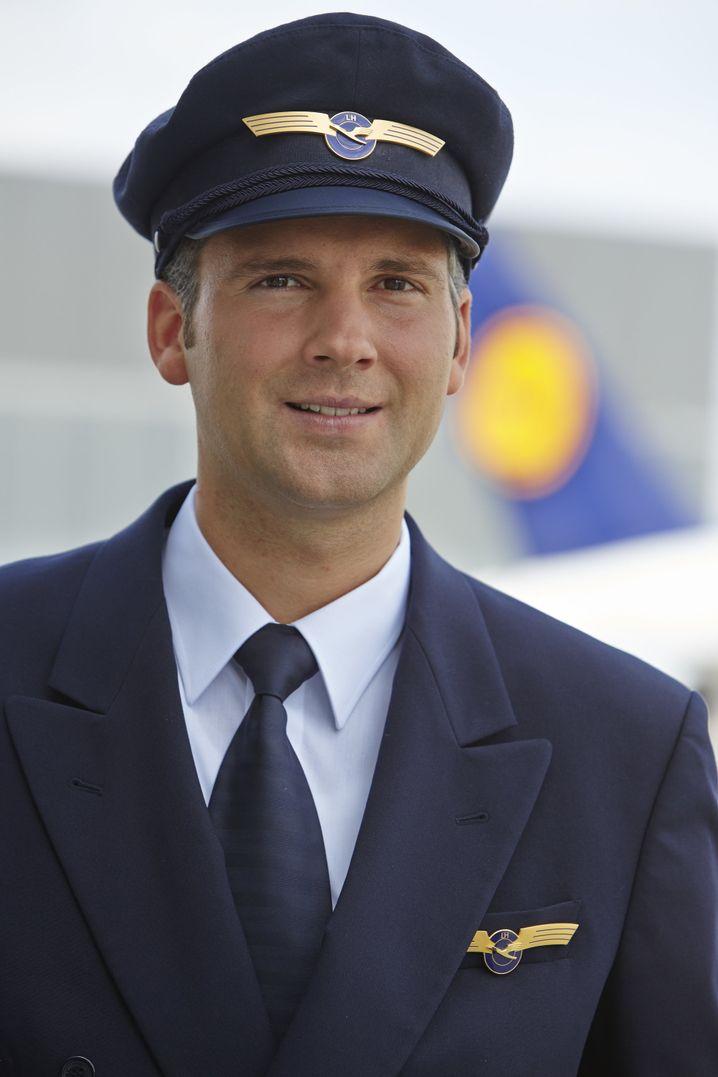 Lufthansa-Pilot Bastian Stank