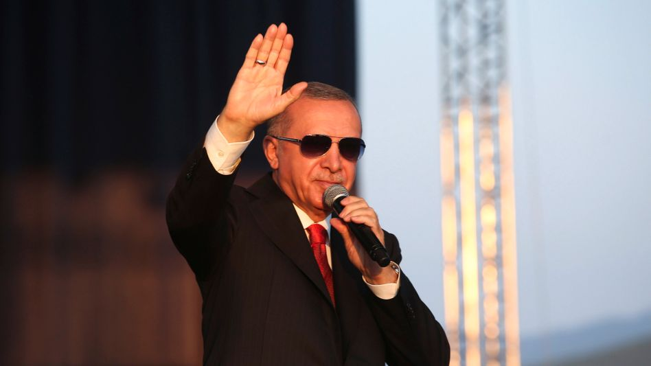 """Turkish President Recep Tayyip Erdoğan. Former Prime Minister Ahmet Davutoğlu says: """"Leaders are at their weakest when they think they are particularly strong."""""""