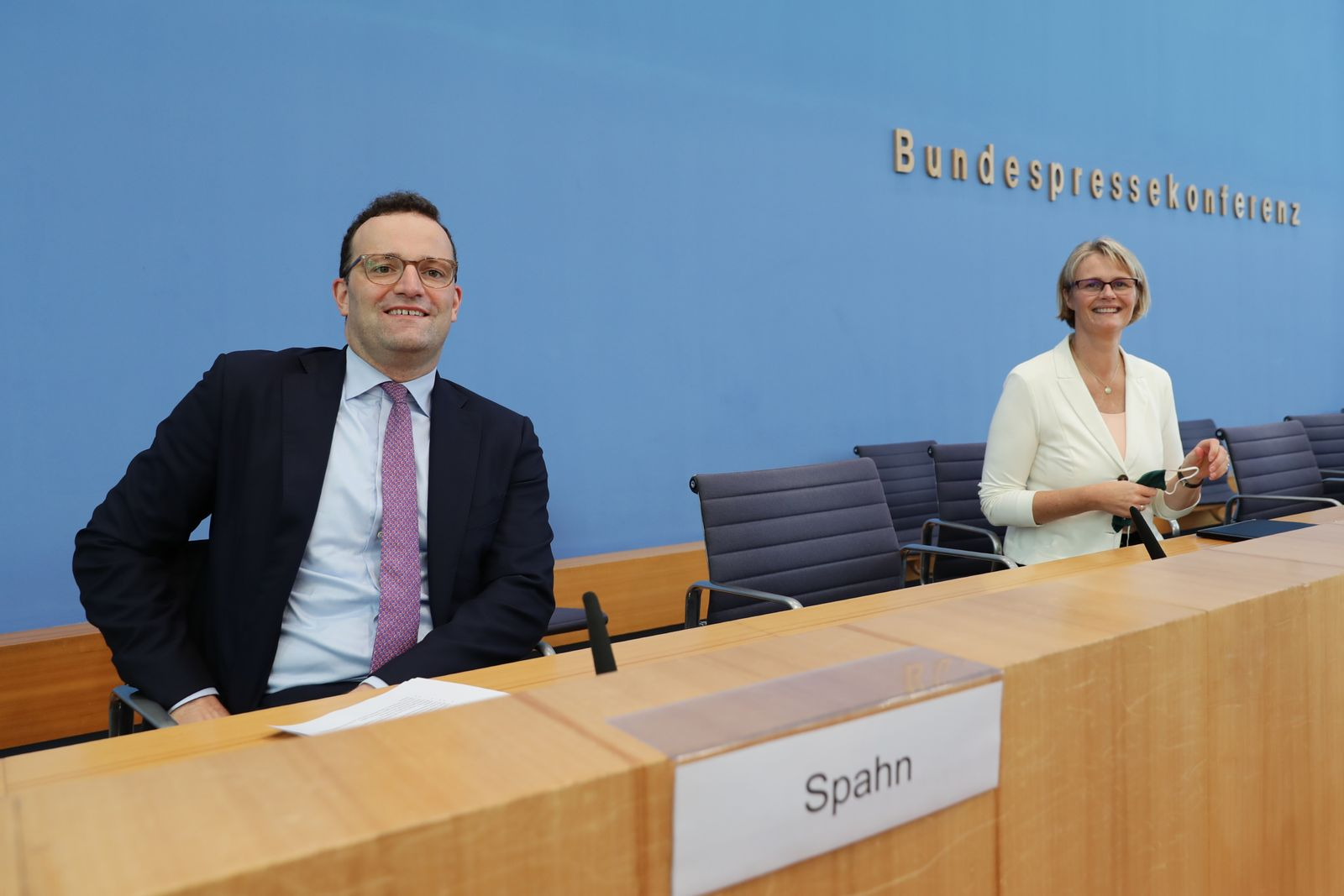 German Ministers Hold Press Conference On Corona Vaccines